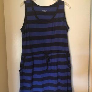 Blue striped dress/ coverup